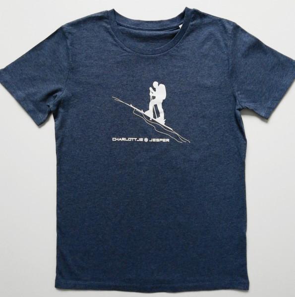 Skiwanderer blau melange