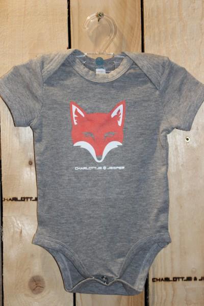 Fuchs Baby Strampler grey melange