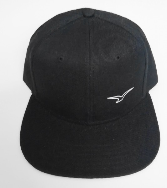 Snapback Cap Möwe schwarz