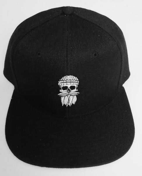 Snapback Cap Hipster Seemann schwarz