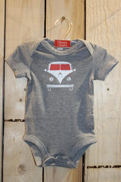 Bus Baby Strampler grey melange