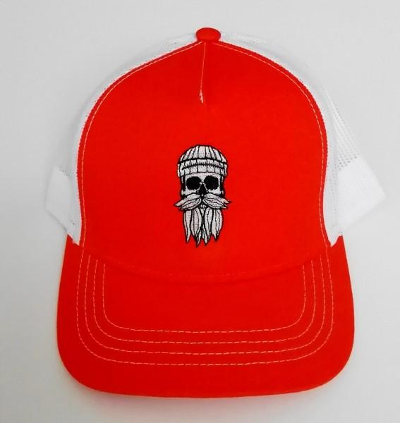 Snapback Trucker Cap Hipster Seemann orange weiß