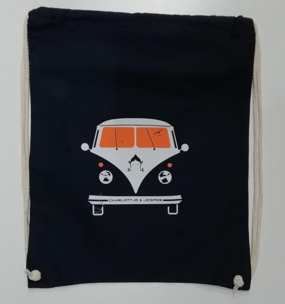 Bus Jute-Rucksack navy