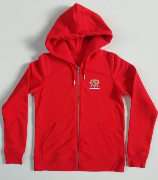 Bus Zip Sweat-Jacket rot
