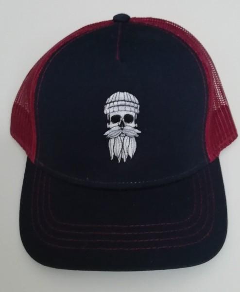 Snapback Trucker Cap Hipster Seemann navy bordeaux