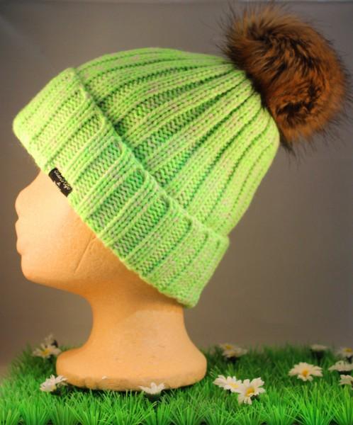 Beanie Katwijk grün melange