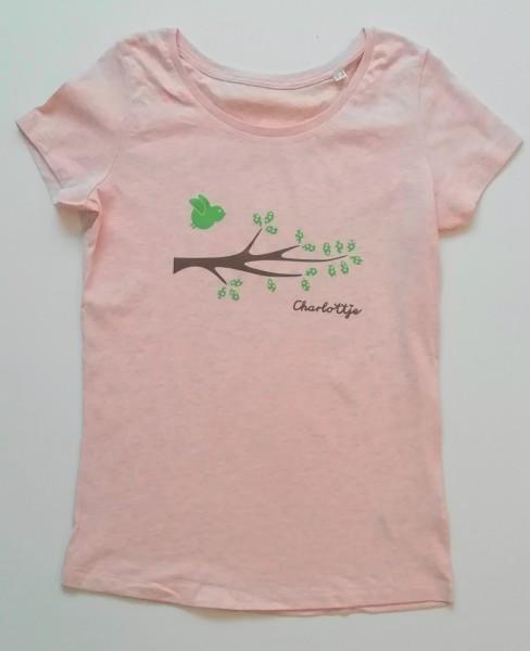 Zweig Vogel rosa melange