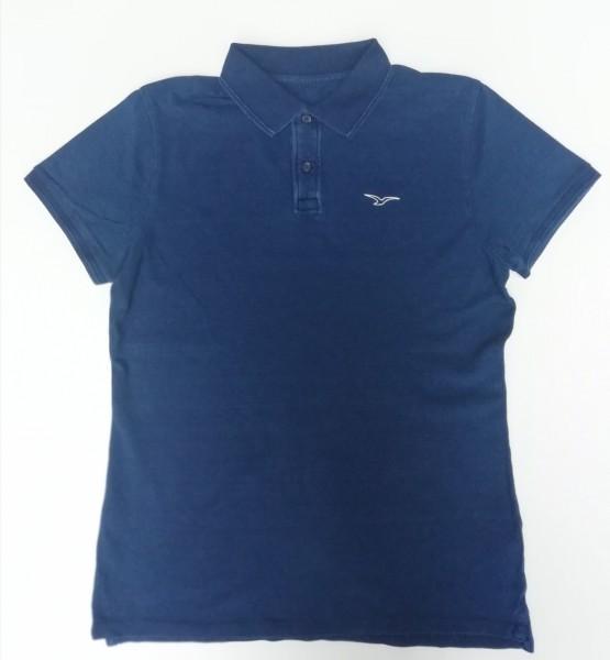 Möwe Polo Shirt jeansblau