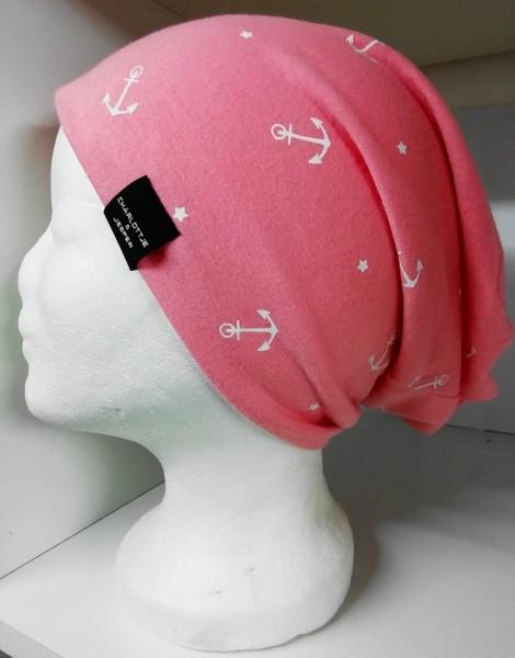 Sommer-Beanie Utrecht Anker pink