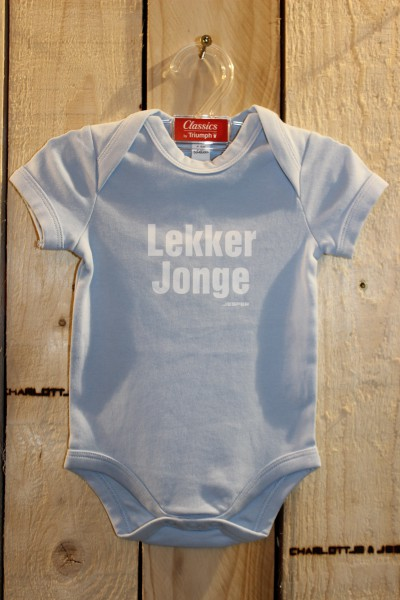 Lekker Jonge Baby Strampler hellblau