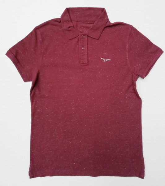 Möwe polo Shirt bordeaux melange
