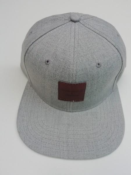 Snapback Cap grau melange